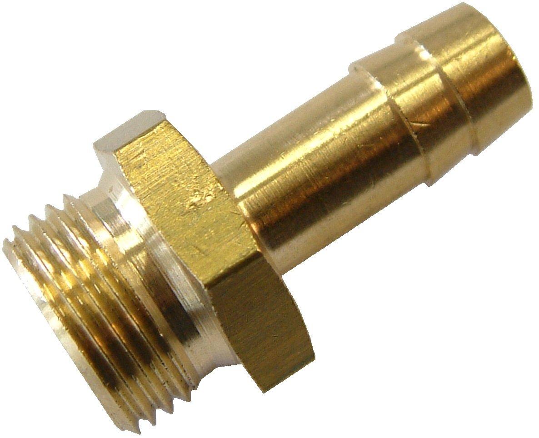5 St/ück Druckluft Schlaucht/ülle G 1//4 x 6mm Au/ßengewinde