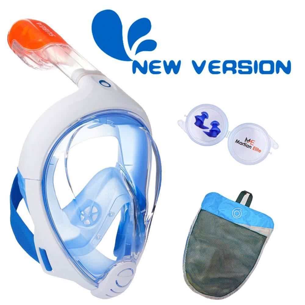 ME MARTIAN ELITE Tribord/Subea Easybreath (2019 Version) Full Face Snorkel Mask with Waterproof earplug, Enhanced Anti-Fog and Anti-Leak by ME MARTIAN ELITE