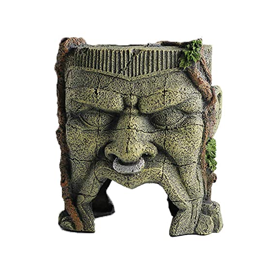 Amazon.com : Sunyiny Aquarium Decorations Ancient Easter Island Stone Head Aquarium Ornament, Fish Tank Landscape Ornament Decoration Accessories : Pet ...
