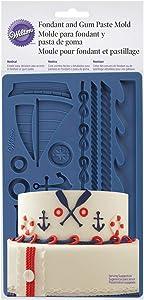 Wilton Nautical Fondant and Gum Paste Mold - Cake Decorating Supplies