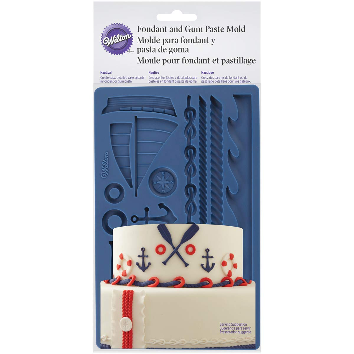 Wilton Nautical Fondant and Gum Paste Mold - Cake Decorating Supplies by Wilton