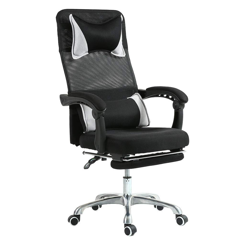 Sonmer Ergonomic Adjustable Liftable Hydraulic Office Chair, 360° Free Rotation, Aluminum Alloy Prong Base, Explosion-Proof Chassis, US Stock - Two-Day Shipping