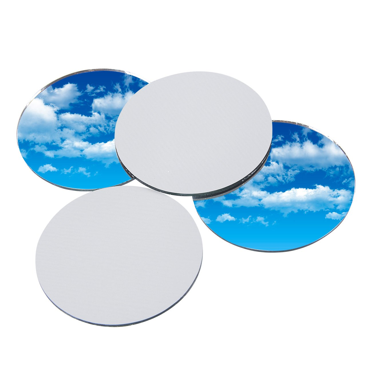 Craft Mirror - 60-Pack Mini Mirror Circles, Glass Mosaic Tile Pieces for Home Decor, DIY Craft Projects, 2-Inch Diameter by Juvale (Image #1)