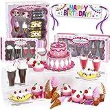 Sophia's Mini 18 Inch Doll Food Set, Complete Sweet Treat Set w/ Frozen Yogurt, Cake, Banana Split, Soda Fountain, Ice Cream & Banner Doll Accessories for 18 Inch Doll Tea Party, Doll Items