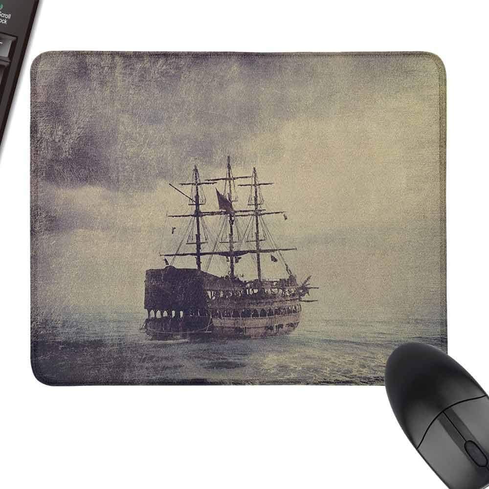Rectangle Mouse Pads,Nautical,Keyboard Mouse Pad,23.6x15.7 Tan Plum