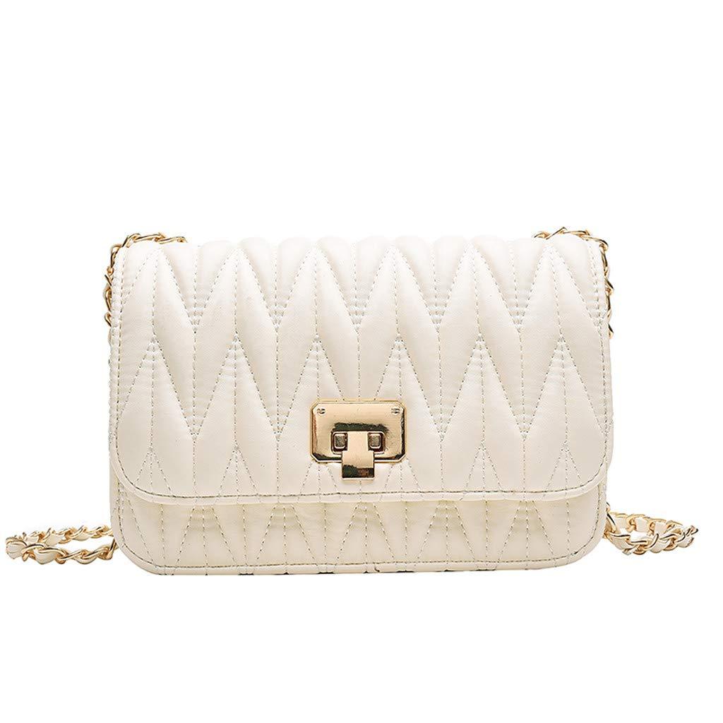 Fashionhe Women's Slant Bag Shoulder Bag Purse Messenger Bag Cosmetic Bag Handbag Outdoor Backpack(Beige)
