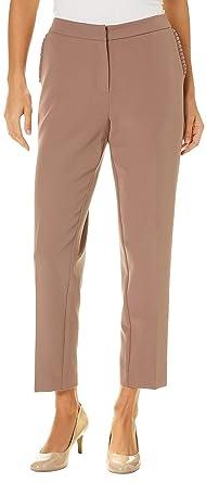 7e5ebf6c28ee3 Zac   Rachel Womens Ruffled Pocket Ankle Pants at Amazon Women s Clothing  store