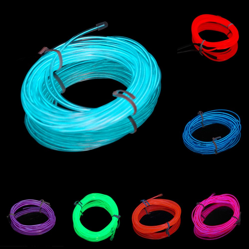 EL Wire LED String Light DC5V 3M USB Bunte Luminous EL Wire Rope Tube Line Flexible Neon Light for Party Christmas Decoration Red