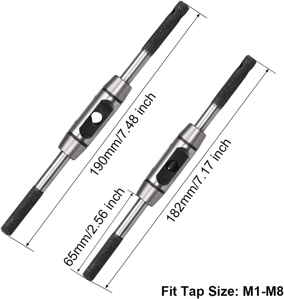 M1-M20 Tap Handle Reamer Wrench Thread Repair Tool Holder Handle Adjustable Rod