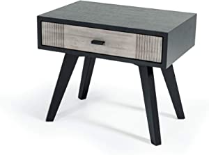 Limari Home Palo Verde Nightstand Grey, Black