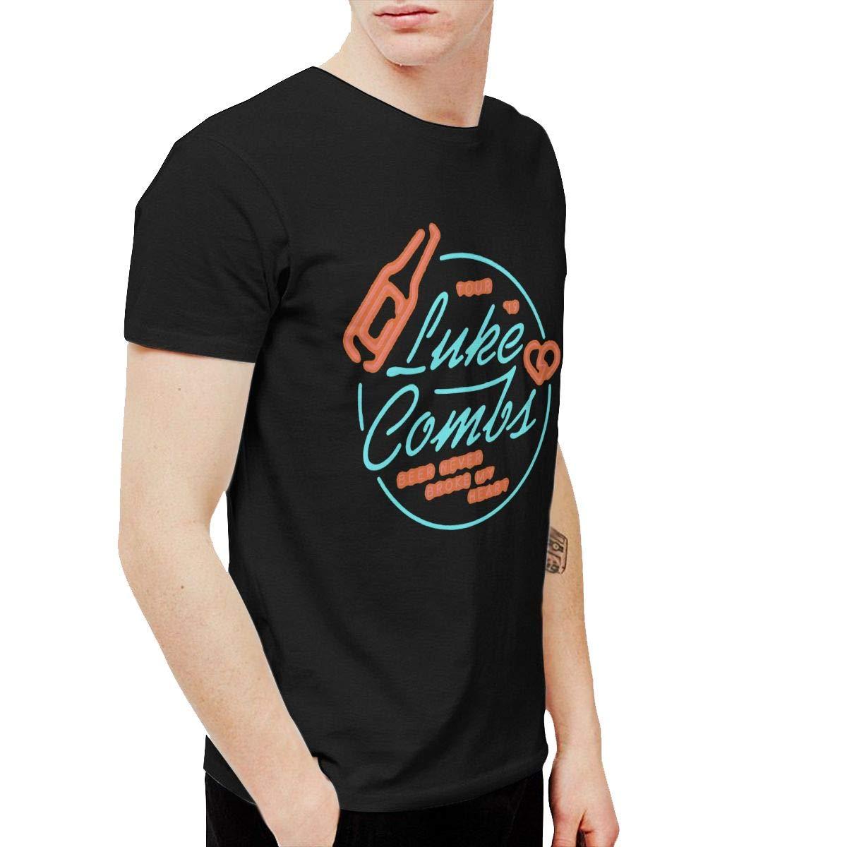 Urahara Luke Combs Beer Never Broke My Heart Tour 19 Unisex Short Sleeved Funny Fashion Art Tshirt Black