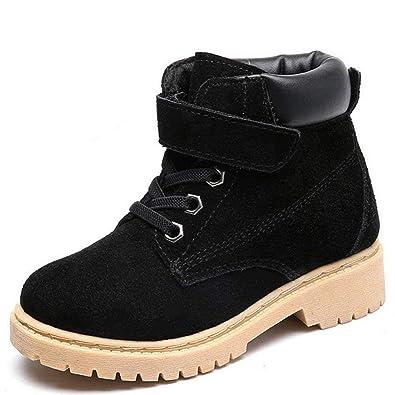 Vextrofort Kids Boots, Winter Outdoor Waterproof Hiking Leather Boot for  Boys Girls (Little Kids/Big Kids) (Khaki/Black)
