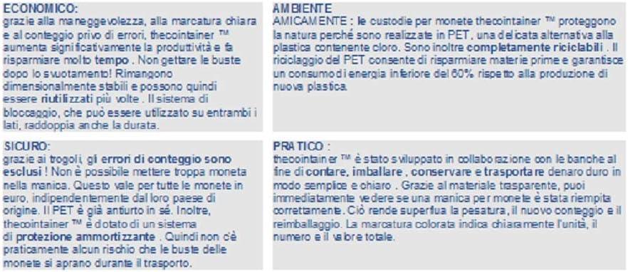 5 centesimi Blister per monete euro 3 x 50 Kit 150 blister portamonete misti da 1-2