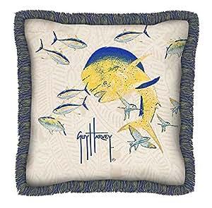 Guy Harvey Outdoor Dorado Pillow with Fringe (22 in.)