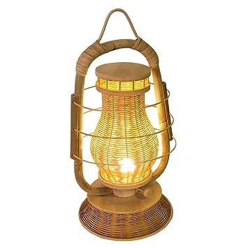 YYL Lámpara de Mesa Simple, Idílico, Hecho a Mano de Bambú, Star ...