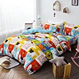 Qbedding Inc. Bingo Forest 100% Cotton 3-piece Duvet Cover Set 3 Piece Queen