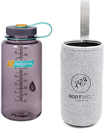 32oz Gray Nalgene Wide Mouth Water Bottle