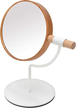 YEAKE Desk Table Mirror with Metal Stand