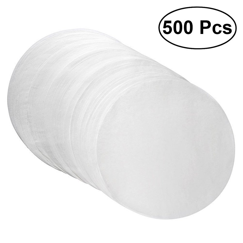 BESTONZON 500 Pcs Round Baking Parchment Circles Paper Parchment Sheets,Safety High Temperature,Sutiable for 8 Inch Baking Cake Paper Pan(White)