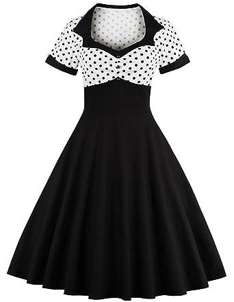 Rolansica Damen 50er Retro Kleider Rockabilly Abendkleider