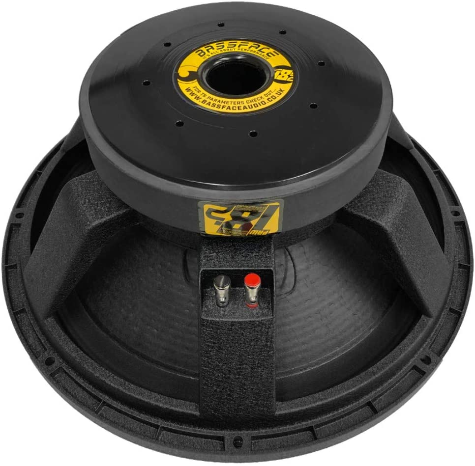 1 Pieza BASS Face PAW18.2 Altavoz subwoofer 46.00 cm 460 mm 18 di/ámetro 1000 vatios rms 2000 vatios m/áx impedancia 4 ohmios autom/óvil Coche