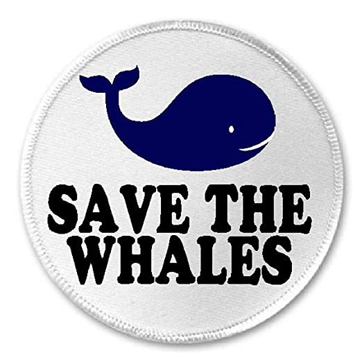 Amazon Save The Whales 3 Sew Iron On Patch Wild Animal