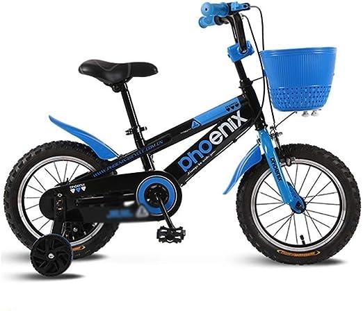 DYFYMXBicicleta niño Bicicleta de Pedal Bicicleta de niño y niña Estilo Libre, 3 Colores, tamaño 12