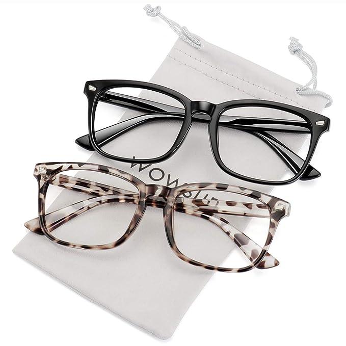 Amazon.com: WOWSUN - Gafas de sol unisex sin receta médica ...