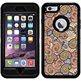 Paisley Multicolored design on Black OtterBox Defender Series Case for iPhone 6 Plus and iPhone 6s Plus