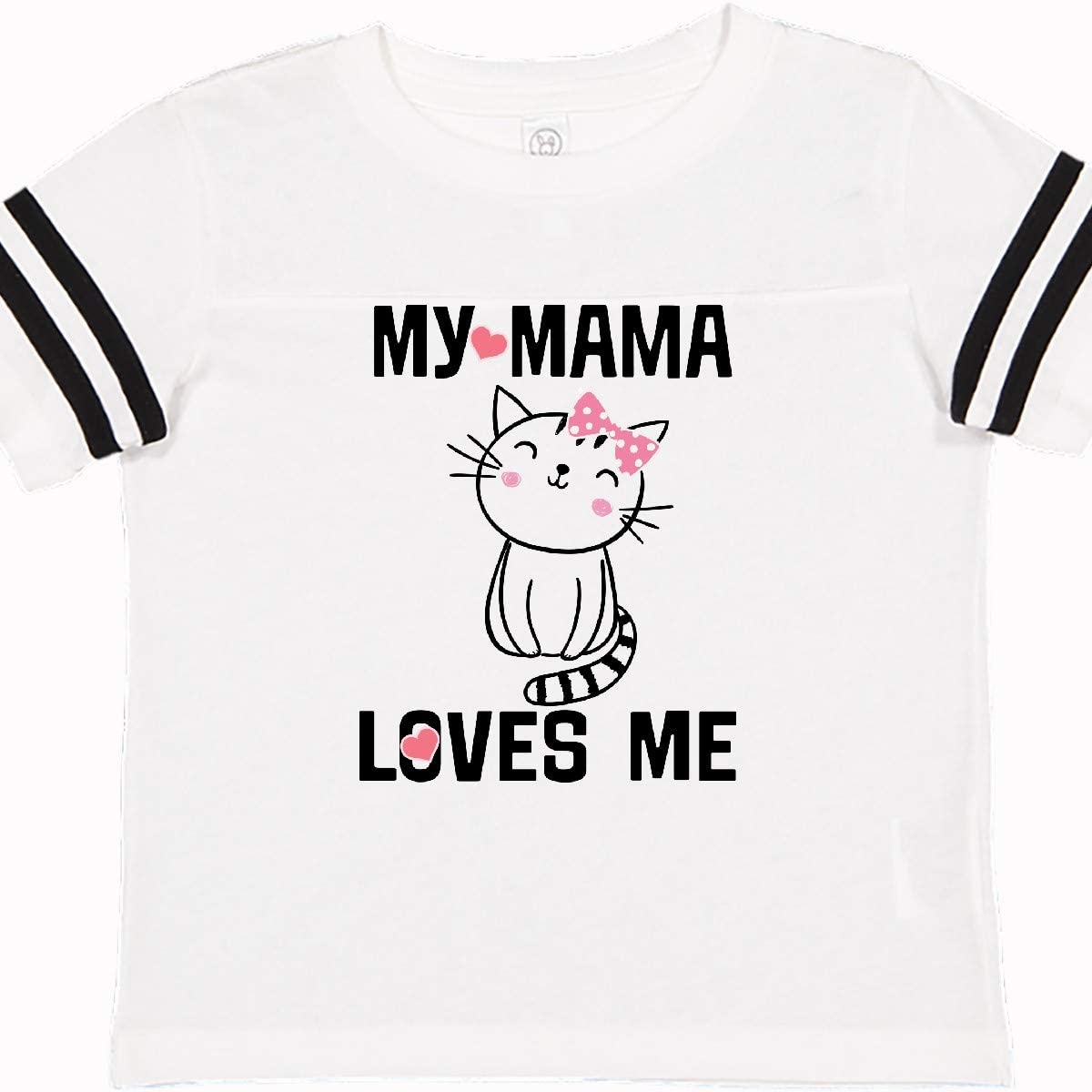 inktastic Mama Loves Me Girls Kitty Toddler T-Shirt