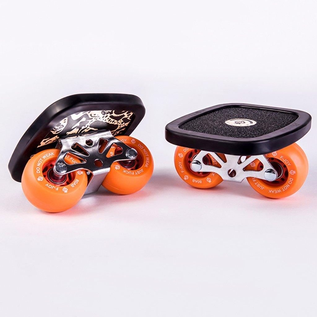 【美品】 ドリフトフリーラインスケート大人の子供ブラック四輪スクーターボードスクーターロードスクラブ Orange B07FM457DY B07FM457DY Orange Orange Orange, ウエノムラ:e828ed2a --- a0267596.xsph.ru