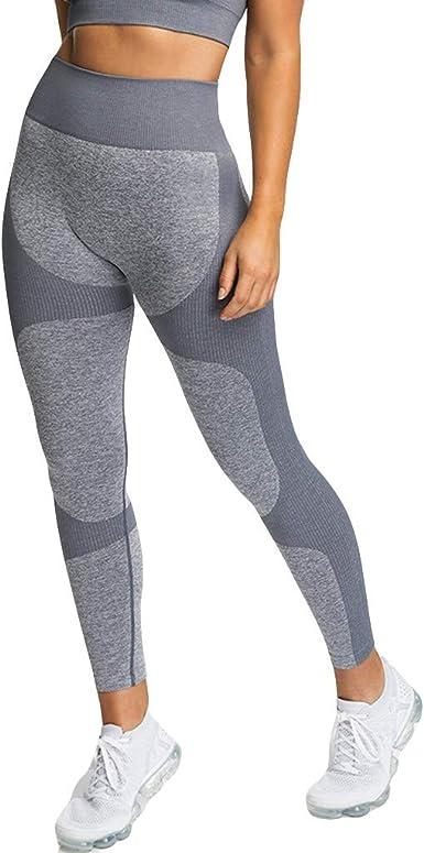 Mujer Pantalones El/ásticos Mallas Pantalones Color s/ólido Moda Pantalones Cortos Fitness Mallas Gym Yoga Slim Fit Pants Leggings Mayas Cintura Alta Deportivos Running Aptitud Pantalon vpass