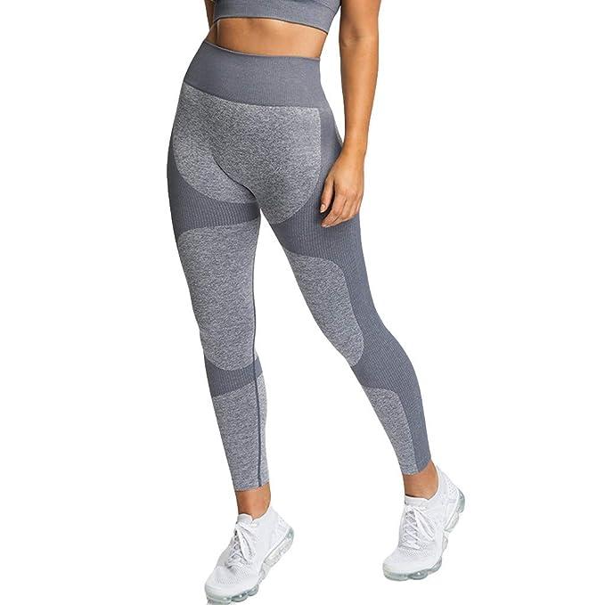 cinnamou Pantalones Mujer, Pantalones Cintura Alta Yoga ...