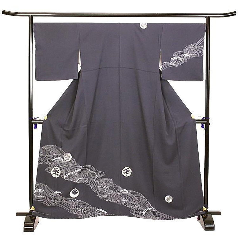 未使用 展示品 訪問着 正絹 着物 きもの 荒波 金彩 和装 リサイクル【中古】 90010920 B0794RR38M