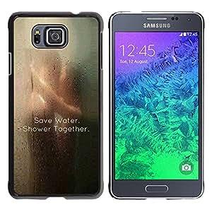 FlareStar Colour Printing Love Save Water Cute Clever Shower Sexy cáscara Funda Case Caso de plástico para Samsung GALAXY ALPHA G850