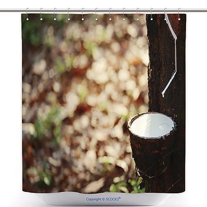 Speak latex leaf shower curtain that