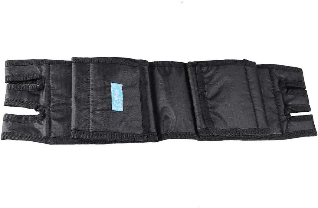 SUPVOX Silla de ruedas de seguridad Correa para la pierna Silla de ruedas Reposapiés Cinturón de seguridad médico Asientos para la pierna Correa fija para los pacientes ancianos (negro)