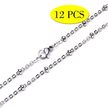 10 Yards Stainless Steel Jewelry Making Beaded Chain for DIY Craft Art 2mm
