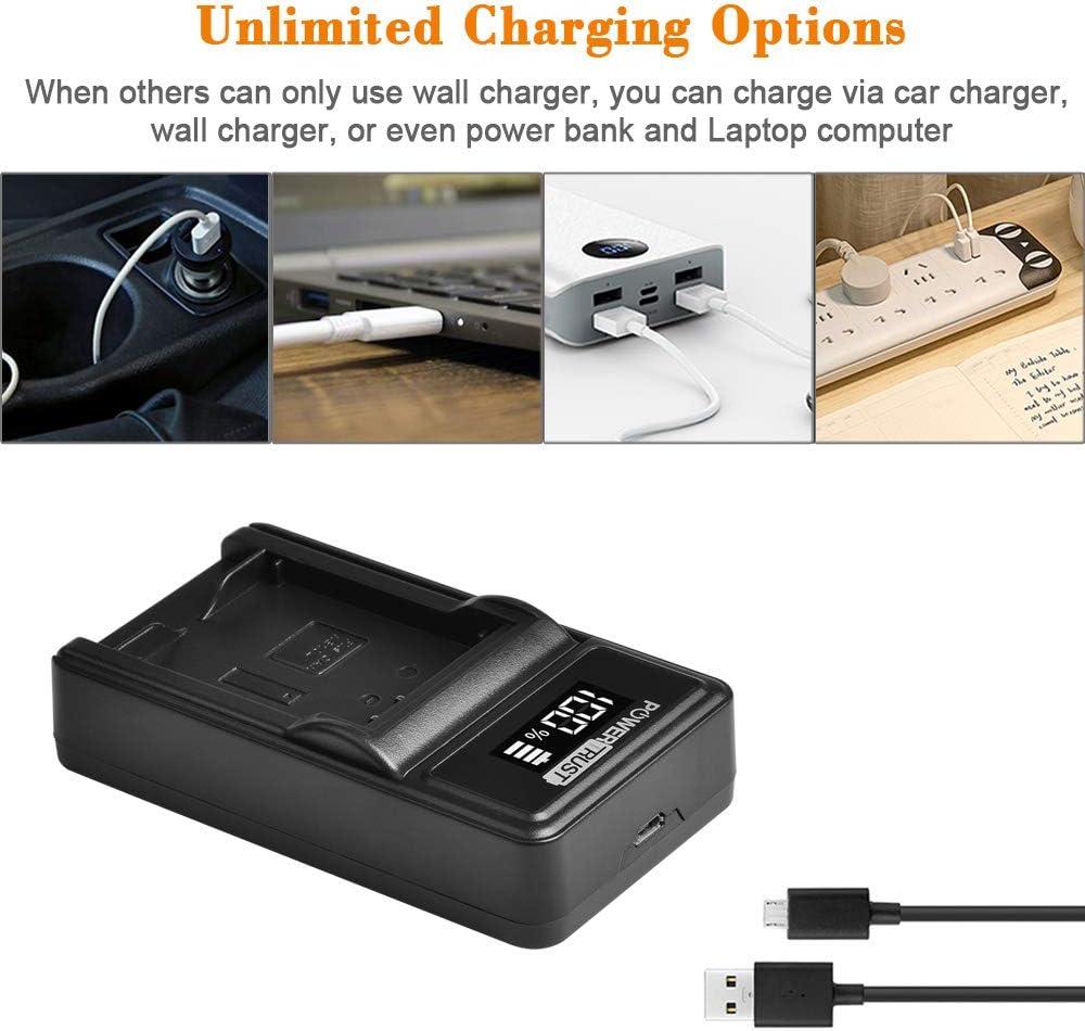 Powertrust Pack Of 2 1300 Mah Nb 10l Nb10l Battery And Elektronik