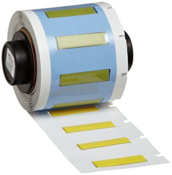 Matte Finish Yellow PermaSleeve Wire Marker Sleeves 100 per Roll B-342 Heat-Shrink Polyolefin Brady PSPT-125-1-YL TLS 2200 and TLS PC Link 1.015 Width x 0.235 Height