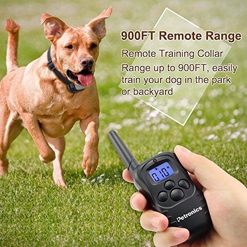 Petronics-330-Yards-Rechargeable-Shock-Training-Collar-with-Remote-Electronic-Dog-Training-Collar-All-Size-Dogs-10Lbs-100Lbs