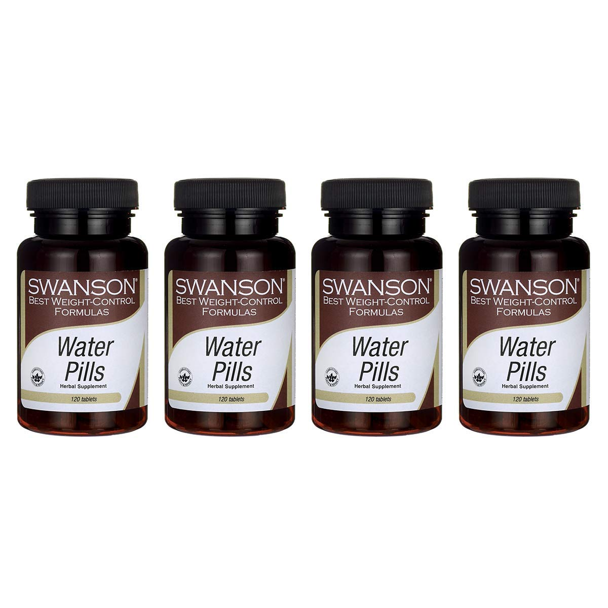 Swanson Water Pills 120 Tabs (4 Pack)