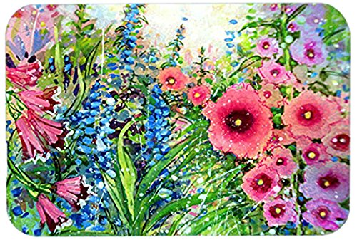 Caroline's Treasures PJC1107LCB Easter Garden Springtime Flowers Glass Cutting Board, Large, Multicolor from Caroline's Treasures