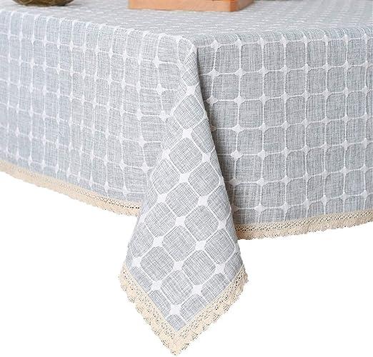 Insun Mantel de Mesa Antimanchas Lavable Mantel de Lino de Algodón ...