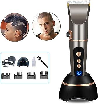 Cortapelos profesional para hombre, con pantalla LED, para barba ...