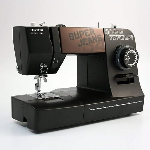 Toyota Super Jeans 34 Eléctrico - Máquina de Coser (Negro, Costura, 4 mm, 800 RPM, 5 mm, Eléctrico): Amazon.es: Hogar