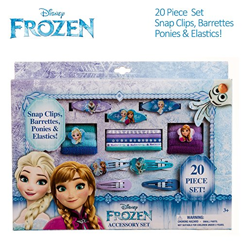 Disney Frozen Girls Hair Accessories Box Set Barrettes Clips Terries (Frozen Hair Accessories)
