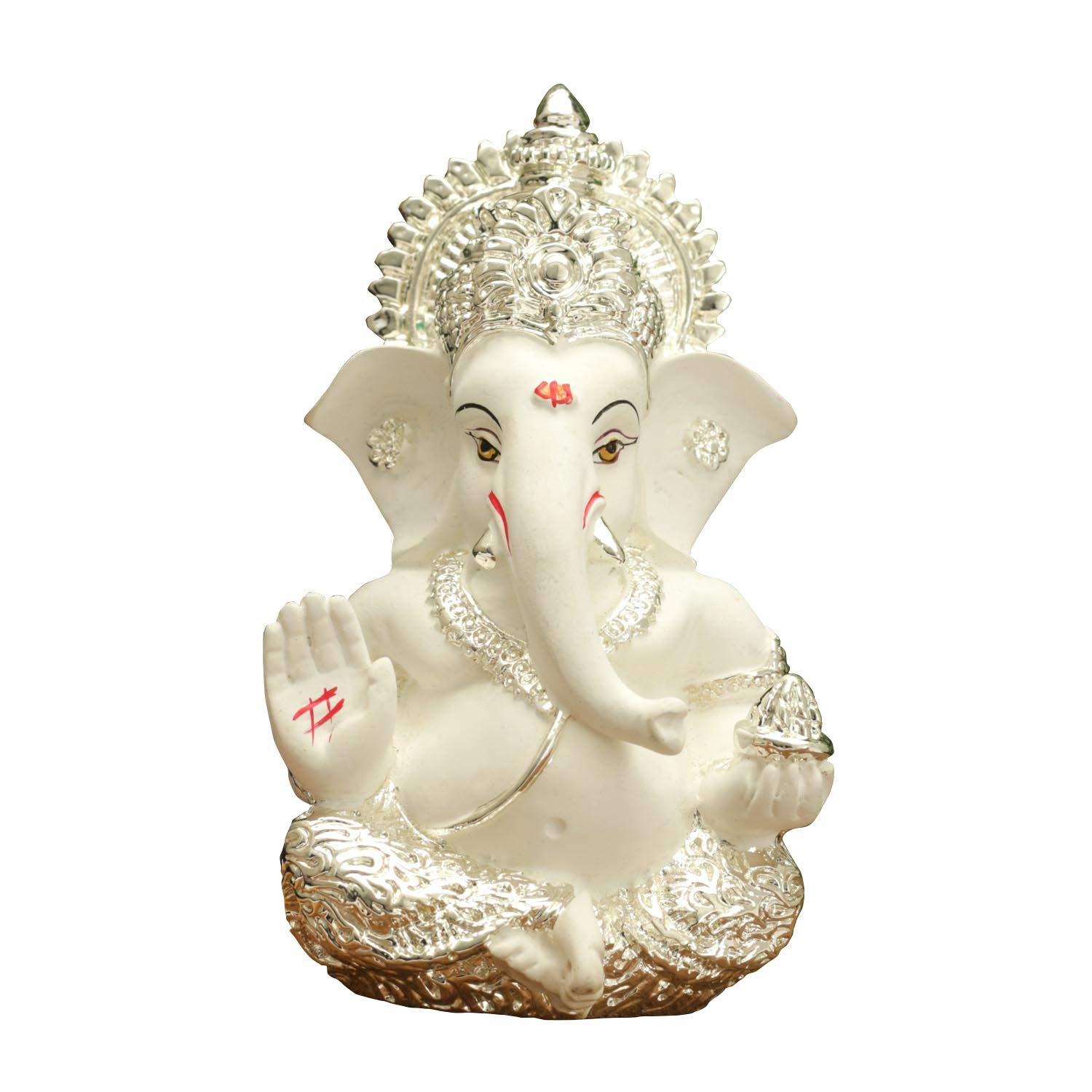 Buy Rp Collections Silver Plated Ceramic Lord Ganesh Idol For Car