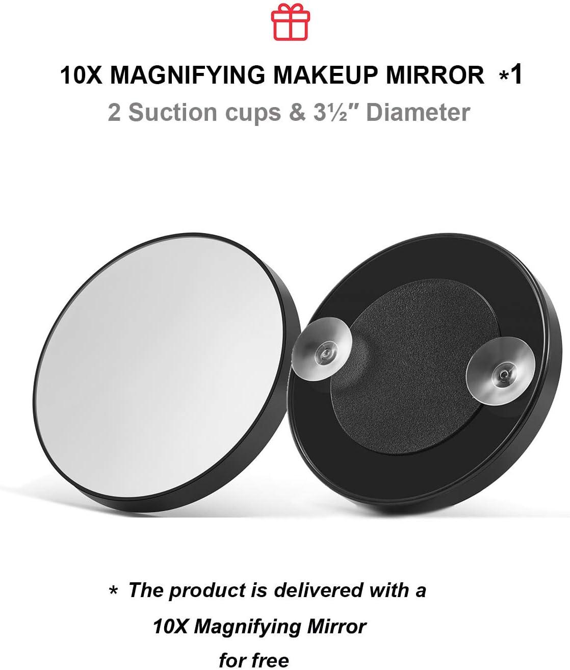 OMIRO Miroir Pliable Portable r/églable Noir Ultra Fin avec Housse en Cuir PU