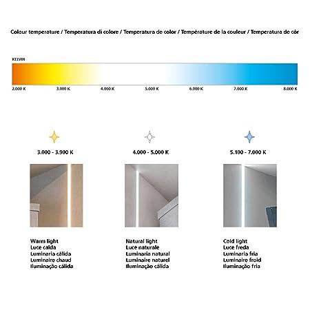 Emuca 5068462 - Barra colgador para armario/vestidor con iluminación LED a pilas y detector de movimiento, largo 708-558mm: Amazon.es: Bricolaje y ...